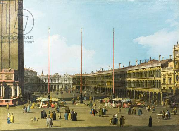 Venice, view of piazza san Marco with the procuratie