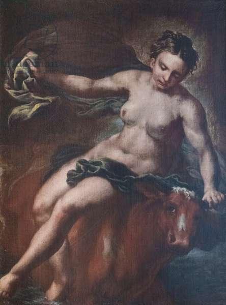 Ratto d'Europa, 18th century, (oil on canvas)