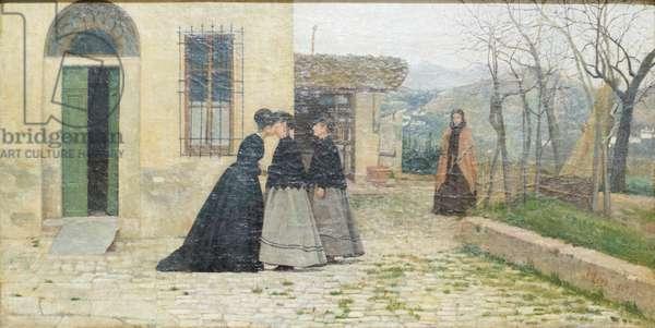 The visit, 1868, Silvestro Lega (painting)