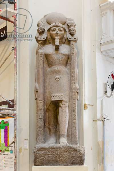 Ramses II as a standard bearer, reign of Ramses II, pink granite, from Tanis, Egyptian Museum, Cairo, Egypt