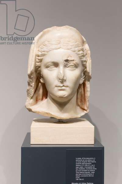 Portrait of Vibia Sabina, 136-138 AD (marble)