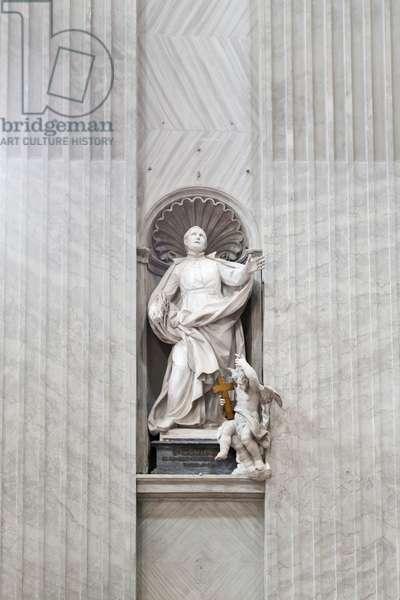 Statue of Saint Camillus de Lellis inside Saint Peter's basilica, Vatican City, Italy, 1753 (marble)