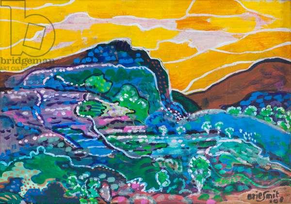 Mountains east Bali, 1998 (acrylic on canvas)