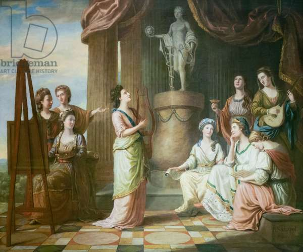 Portraits in the Characters of the Muses in the Temple of Apollo, 1779 (oil on canvas)