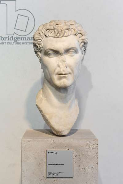 Portrait of a man, possibly Nerva, 98-138 AD (marble)