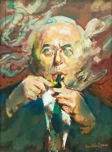 Harold Wilson, c.1974 (oil on canvas)
