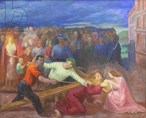 The Bearing of the Cross, 1943 (oil on canvas)