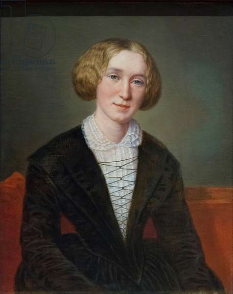 George Eliot, based on a work of 1849, (oil on canvas)