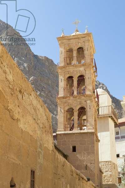 The Church of the Transfiguration bell tower, St. Catherine's Monastery, Sinai, Egypt (photo)