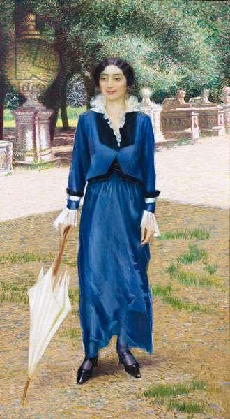 Portrait of Leonilde Imperatori, 1911, Giacomo Balla (oil on canvas)