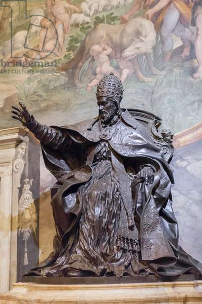 Statue of Pope Innocent X, 1645-50 (bronze)