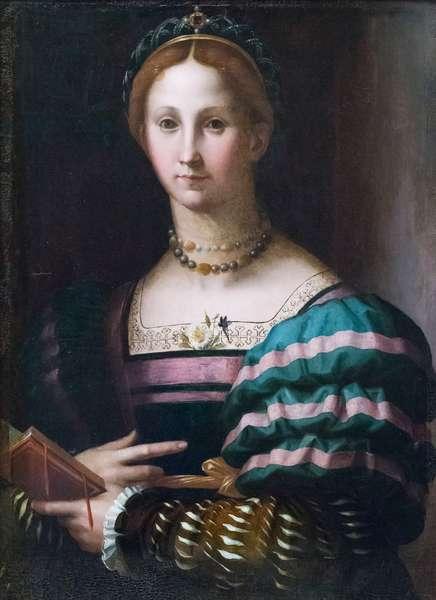 Portrait of a lady, 1550-60, Agnolo di Cosimo known as Bronzino (oil on panel)