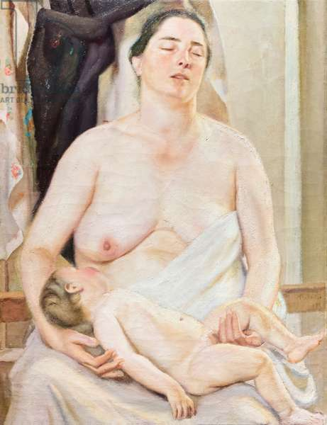 Motherhood, 1921, (oil on canvas)