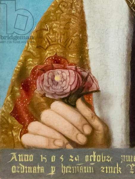 King Henry VII, 1505 (oil on panel) (detail of 930354)