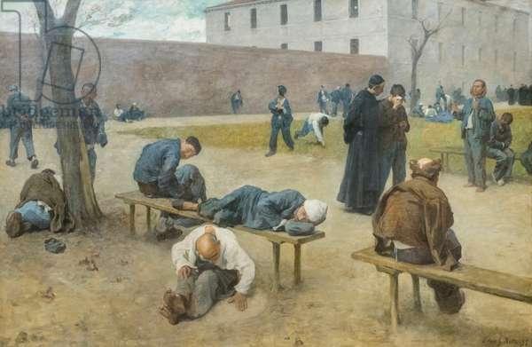 Mental hospital, 1895, Sivio Rotta (painting)