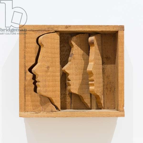 Portrait of Vittorio Rubiu, 1966, Mario Ceroli (sculpture)