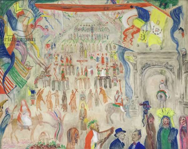 The Procession of the Penitents, Veurne, 1913 (oil on canvas)