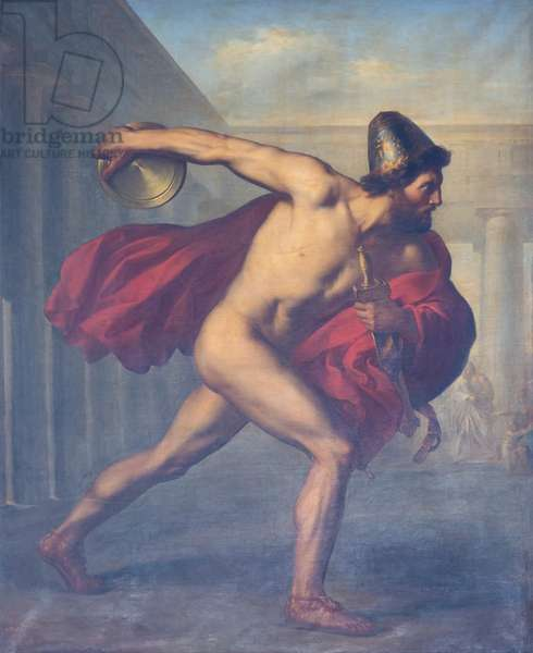 Ulysses throwing the discus, 1841, Giuseppe Mancinelli (oil on canvas)
