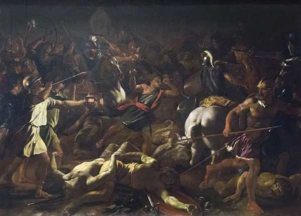 Battle of Gideon Against the Midianites, 1625-26 (oil on canvas)