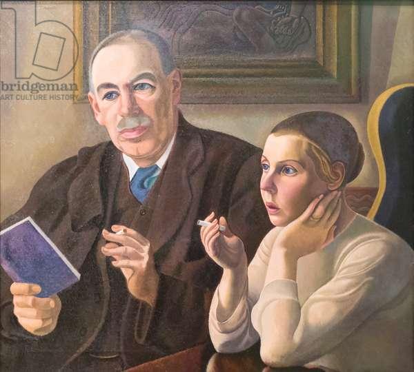 John Maynard Keynes and Lydia Lopokova, 1932 (oil on canvas)