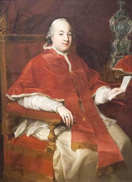 Portrait of Pius VI, 1775 (oil on canvas)