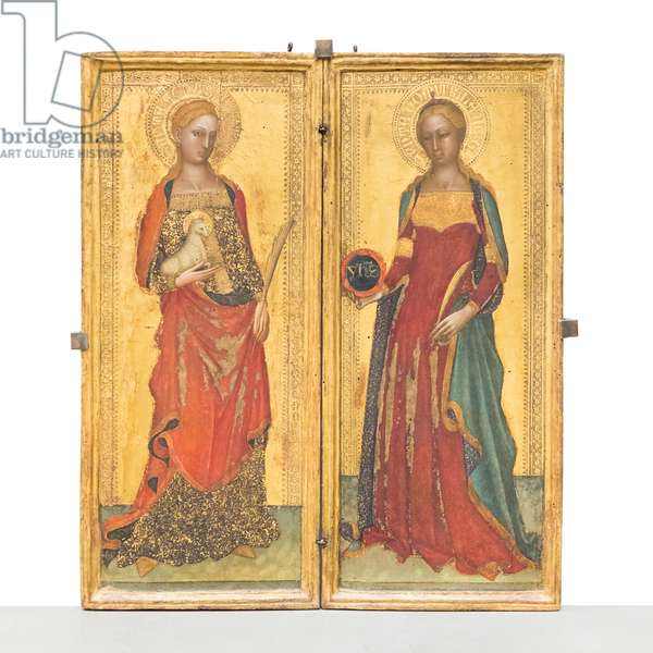 Saint Agnes and Domitilla, 1365-70 circa, (panel)