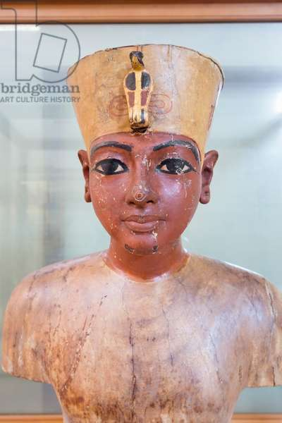 Mannequin of Tutankhamun, from the tomb of Tutankhamun, antechamber, wood, gesso and pigment, Egyptian Museum, Cairo, Egypt
