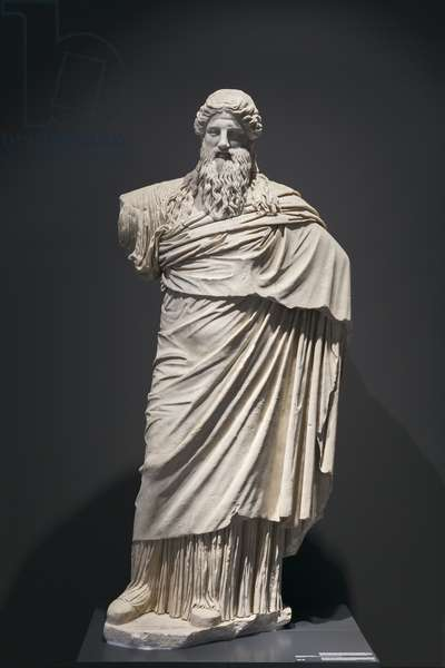 Statue of Dyonisus, Sardanapallos style, national museum of Rome (museo nazionale romano), Rome, Italy