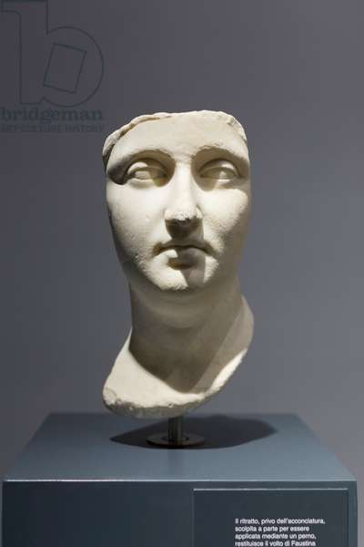 Portrait of Faustina the Elder, 138-161 AD (marble)
