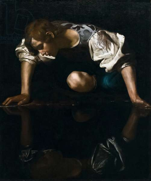 Narcissus, 17th century (oil on canvas)