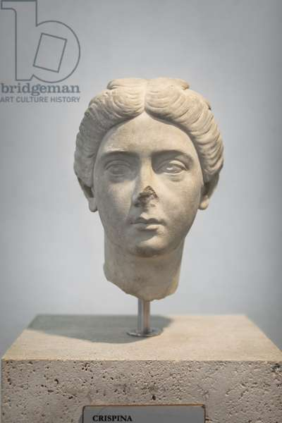Portrait of Crispina, about 178 AD, from villa Adriana, national museum of Rome (museo nazionale romano), Rome, Italy