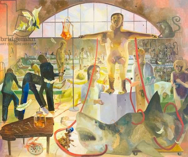 How we cured the plague, 2007, Dana Schutz (oil on canvas)