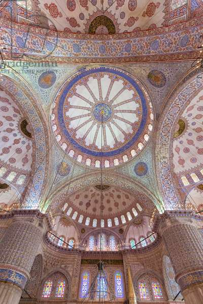 The domes of the blue mosque, Istanbul, Turkey