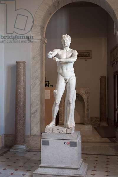 Apoxyomenos, c.50 AD, copy of the bronze masterpiece by Lysippus around 320 BC (marble)