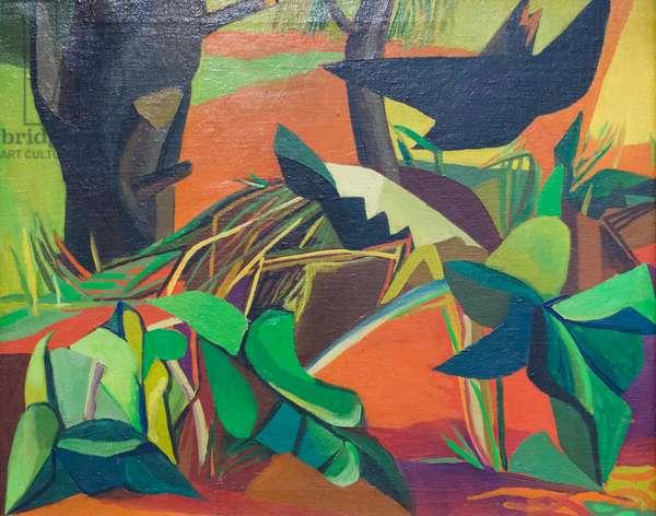The Blackbird (Il merlo), 1947, Renato Guttuso (painting)