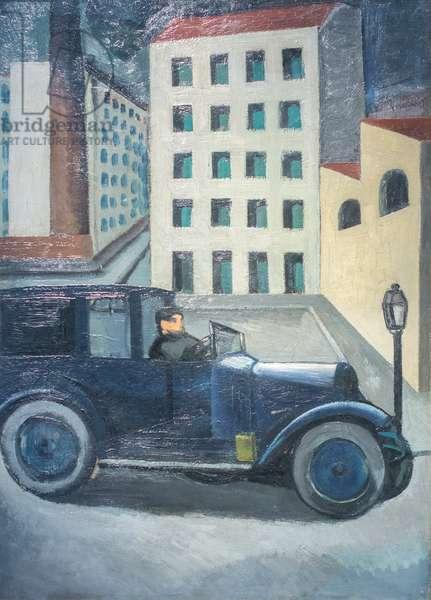 Urban landscape, 1920 (oil on cardboard fixed on canvas)