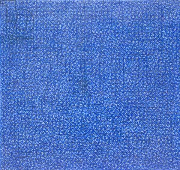 Composizione astratta, ognuno tesse le sue indulgenze, 1960, Piero Dorazio (oil on canvas)