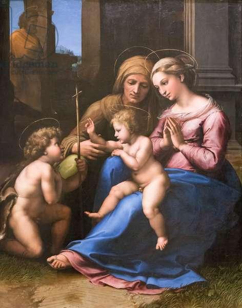 Madonna del divino amore, 1516, Raffaello Sanzio and workshop (oil on panel)