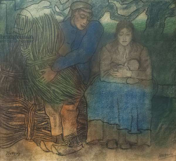 Ouder geluk (parents' happiness), 1891 (pastel on paper)