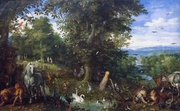 Earthly paradise with the original sin, 1612, (oil on canvas)