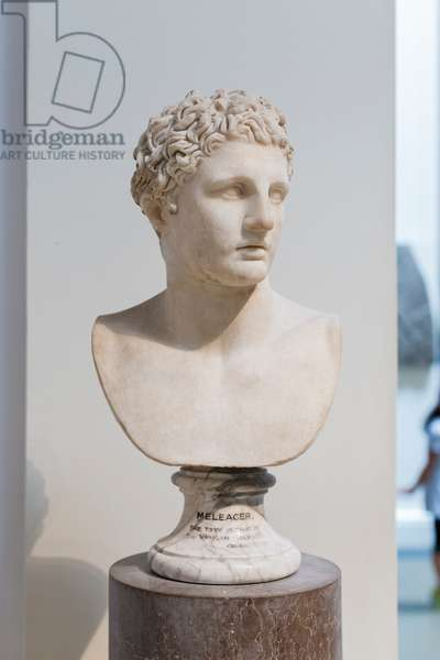 Meleager, parian marble, roman version of a greek original of the 4th century BC