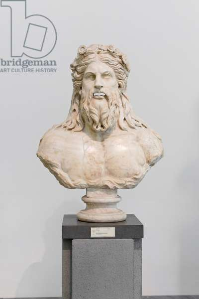 River deity, part of a fountain, 2nd century AD (marble)