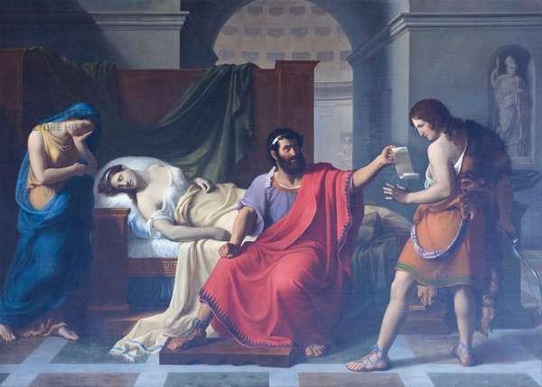 Phaedra's death, Vincenzo de Angelis, 1830 (oil on canvas)