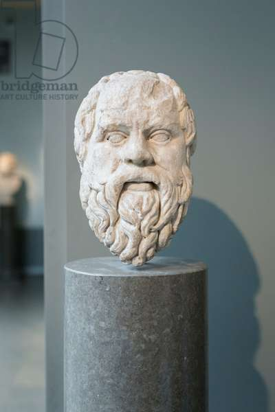Head of Sokrates, 4th century BC