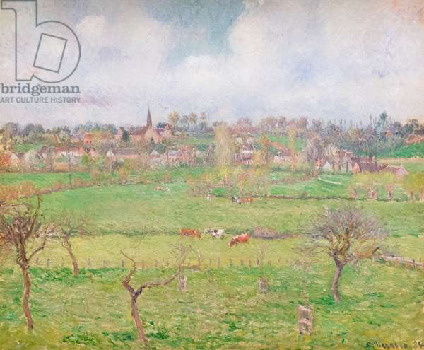View of Bazincourt, 1884 (oil on canvas)