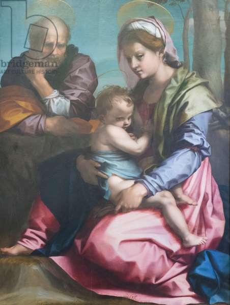 Holy family, 1524-25 (oil on panel)