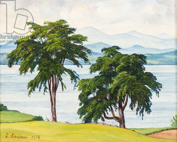 Two Elms, 1938 (oil on canvas)