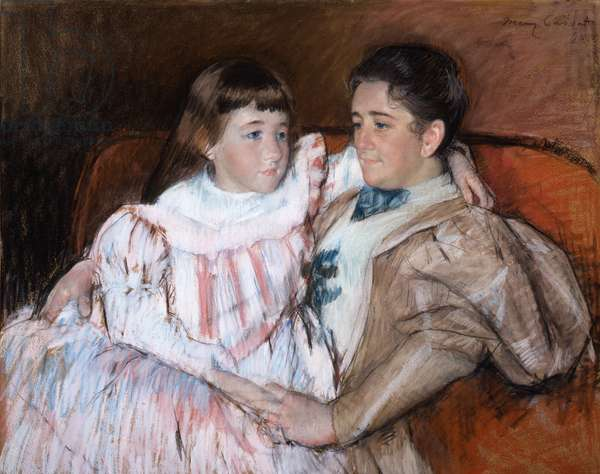 Louisine Havemeyer and Her Daughter Electra, 1895 (pastel on paper)