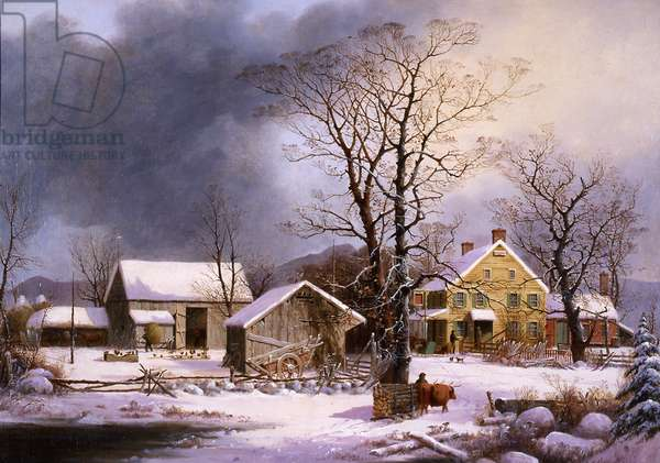 Winter in the Country, 1862 (oil on canvas)