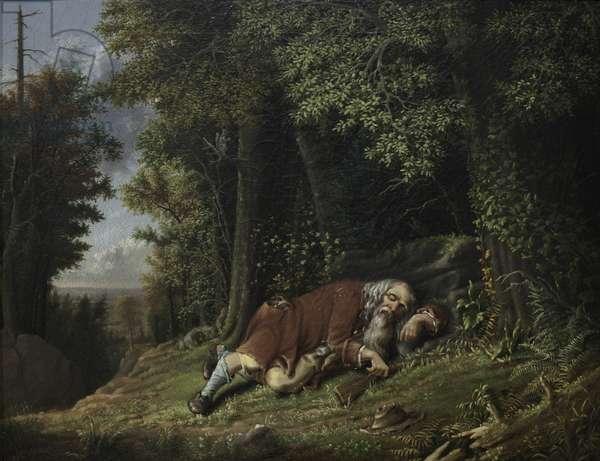 Rip Van Winkle Asleep, 1879-80 (oil on canas)